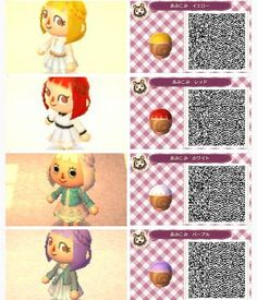 「animal crossing new leaf hair qr codes」の画像検索結果