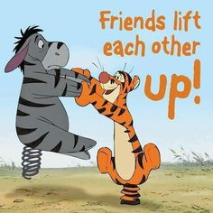 Cute Tigger and Eeorye! Eeyore Quotes, Winnie The Pooh Quotes, Disney Winnie The Pooh, Disney Love, Disney Art, Tigger And Pooh, Pooh Bear, Eeyore Pictures, Disney Quotes
