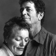 """Laurie Anderson's Farewell to Lou Reed: """"We made up ridiculous jokes; stopped smoking 20 times; fought; learned to hold our breath underwater; went to Africa; sang opera in elevators; made friends with unlikely people; followed each other on tour when we could; got a sweet piano-playing dog; shared a house that was separate from our own places; protected and loved each other.' >>> The article is so beautiful it will make you cry."""