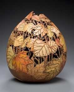 WOW❣ Beautiful creative piece—amazing detail—gourd art, by Utah-based artist & sculptor Marilyn Sunderland❣ marilynsunderlandstudio.com