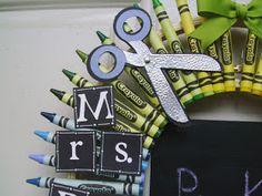 Crafty Creations By Jill Crayon Wreaths Diy Arts