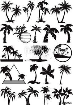 """Laden Sie den lizenzfreien Vektor """"palm  and coconut trees vector silhouette"""" von PrintingSociety zum günstigen Preis auf Fotolia.com herunter. Stöbern Sie in unserer Bilddatenbank und finden Sie schnell das perfekte Stockbild für Ihr Marketing-Projekt! Mother Daughter Tattoos, Tattoos For Daughters, Mother Daughter Tattoo, Mommy Daughter Tattoos"""