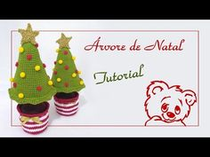 Christmas Crochet Patterns, Christmas Tree, Christmas Ornaments, Diy Crochet, Holiday Decor, Youtube, Crochet Christmas Decorations, Holiday Crochet, Christmas Things