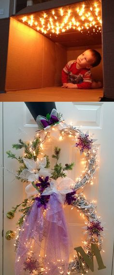 18 magical and creative ways to use string lights to add warmth and beauty to your home: great ideas for holiday decorations and everyday cheer! - A Piece Of Rainbow