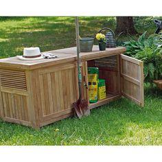Teak Outdoor Garden Storage Chest | Thos. Baker