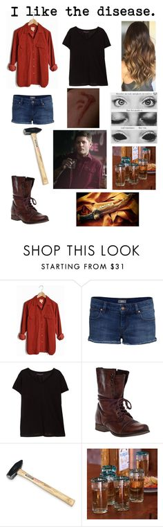 """Deanmon Winchester (GENDERBEND)"" by xxkawaiiunicornxx on Polyvore featuring Violeta by Mango, Steve Madden, NOVICA, women's clothing, women, female, woman, misses and juniors"