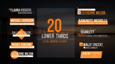Lower Thirds by AePixel 20 Clean Lower Thirds Description & FeaturesFull HD resolution Compatible with After Effects or CC. Typo Design, Word Design, Graphic Design Typography, Layout Design, Lower Thirds, Text Layout, Web Banner, Clean Design, Presentation Design