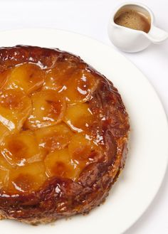 Tarte Tatin is a French classic, spectacular to present and fun to prepare. Richard Davies' classic tarte Tatin recipe is laced with some expert tips for nailing this old favourite. Serve simply with clotted cream or ice cream. Clotted Cream, Apple Recipes, Sweet Recipes, Kolaci I Torte, Great British Chefs, French Desserts, French Classic, Sweet Tooth, Sweet Treats
