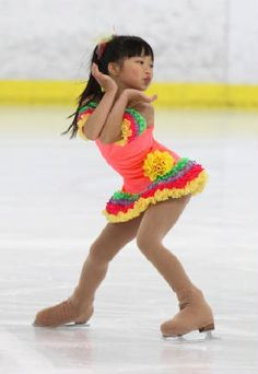 Darling Megan Ly in one of my skating dresses!  Thanks Megan!
