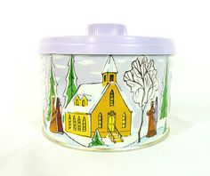 Vintage 1959 Mrs Lelands Golden Butter Bits Christmas Holiday Tin Container #MrsLelandsMasterKitchens