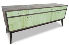 reclaimed wood mint console