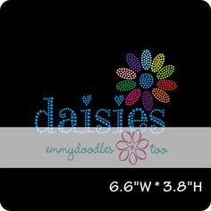 NEW Girl Scouts Inspired Daisies  Bling Tshirts by EmmyDoodlesToo