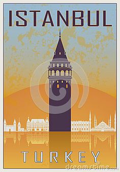 """Istanbul vintage poster by Domiciano Pablo Romero Franco, via Dreamstime  """"Preserve. Reserve. Serve ~ The life and times of Istanbul at the heart of historical center""""  www.armadaistanbul.com www.armadaistanbulculture.com"""