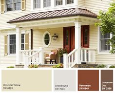Domain Decorating Restoration Exterior Color Palette House Schemes Paint