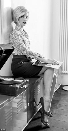 Girls with Vinyl Records