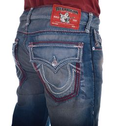 True Religion Mens Jeans Size 32 Straight with Flaps in Iron Coast NWT $370.00 #TrueReligion #ClassicStraightLeg