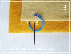 how to do blanket stitch onto another piece of fabric