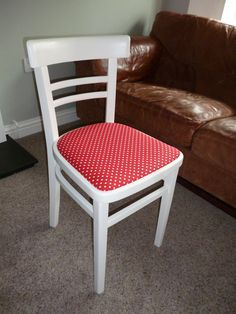 Vintage kitchen chair painted in Farrow & Ball wimborne white and ...