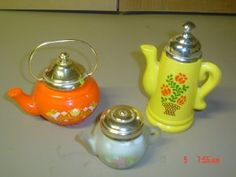 Tea Pot perfume bottles Avon lot of 3 bottles