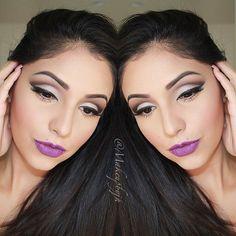 wish i had the guts to rock purple lipstick