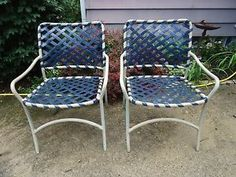 Brown Jordan Tropitone Vintage Mid Century Patio Furniture Tamiami Lounge  Chairs