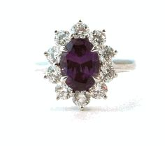 2.34ct Alexandrite & Diamond Platinum Ring from @Wellington & Company Fine Jewelry #Diamond #Alexandrite