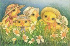 """Easter Bonnets"" ~ Art by Lynn Bonnette: April 2011"