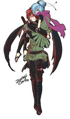 Karma Akabane x Nagisa Shiota Karma Kun, Nagisa And Karma, Art Manga, Manga Anime, Anime Meme, Koro Sensei, Nagisa Shiota, Angel Beats, Film D'animation