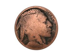 6-Indian-Head-5-8-inch-15-mm-Metal-Buttons-Antique-Copper-Color