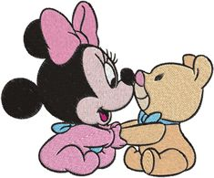 Baby minnie mouse Machine Embroidery Design -- 0348 | phoenixembroidery - Needlecraft on ArtFire