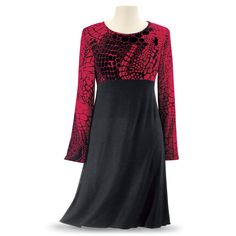 ATTRACTIVE STYLE would Be Nice in VELVET Bottom.  Ruby & Black Dress - Women's Clothing & Symbolic Jewelry – Sexy, Fantasy, Romantic Fashions