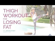 Thigh Workout For Losing Fat | Rebecca Louise - YouTube