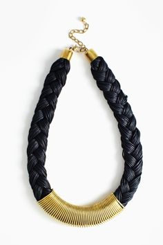 Braided Metal Collar Necklace
