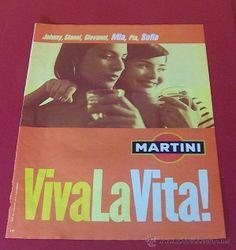 2001 PUBLICIDAD MARTINI VIVA LA VITA ANUNCIO DE PRENSA