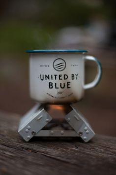 Luke Gram with the United By Blue Enamel Mug #bluemovement