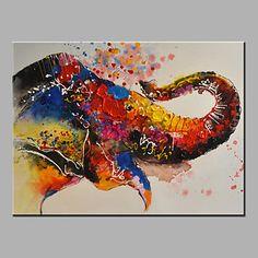 oliemaleri moderne abstrakt ren hånd tegne klar til at hænge dekorative elefant næse oliemaleri 4750778 2016 – kr.332