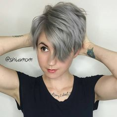This client went ftom brown to this silver.  Took them over 4 1/2 hours.  Lovin it is@parlour.eleven  @parlour.eleven by nothingbutpixies