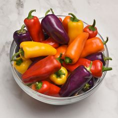 Mardi Gras Fun peppers are the perfect snack size - just like the bags you find at the grocery! Available in eye-catching colors that beg t. Unique Recipes, Real Food Recipes, Vegan Spinach Artichoke Dip, Chicken Bacon Ranch Pizza, Sweet Cherries, Stuffed Sweet Peppers, Grow Your Own Food, Edible Garden, Snacks