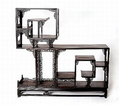 An unusual Chinese hardwood asymmetrical display cabinet Qing… - Furniture - Oriental - Carter's Price Guide to Antiques and Collectables Japanese Furniture, Asian Furniture, Chinese Furniture, Art Furniture, Antique Furniture, Turandot Opera, Asian Inspired Decor, Chinese Element, Asian Interior