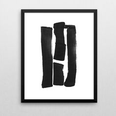Black & White, Instant Download, Printable Art, Modern Contemporary Abstract Wall Art, Brush Stroke Print, Minimal Ink Painting, Home Decor by MinimalInstant on Etsy