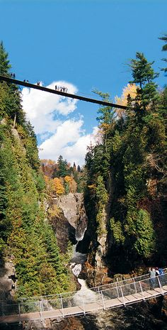 Canyon Ste. Anne, just northeast of Quebec City - a nice walk around the falls or rock climbing  and zip line for the more adventurous