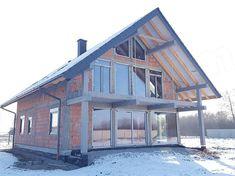 Projekt domu Otwarty 4 171,54 m2 - koszt budowy 247 tys. zł - EXTRADOM Home Fashion, Cabin, House Styles, Home Decor, Arquitetura, Decoration Home, Cabins, Cottage, Interior Design
