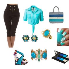 """""""Sexy summer"""" by carlamiarose on Polyvore #IceCarats http://www.icecarats.com/14K-Yellow-Gold-11X7-Genuine-Cab-Turquoise-Ring-Size-6.00-110936.aspx"""