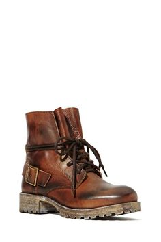 Jeffrey Campbell 1953 Boot - Brown - Flats | Lace-Up | Jeffrey Campbell