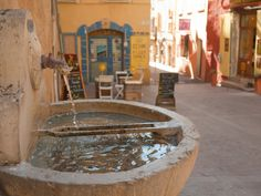 Water fountain in the French provence