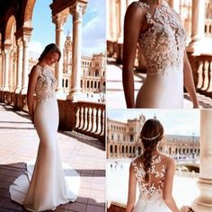 We are proud to say you can find RAIKA will be arriving in our show room in the near future plus many more San Patrick, La Sposa, Pronovias and Atelier 2018 gowns. We suggest that you go to our website, http://www.fashionsbyfarina.com.au/contact/ , to find out about our May Stock Sale with selected floor up to 50% off.. RAIKA is a Crepe Monique and gemstones merge to create this fabulous mermaid style dress, with a two-piece effect joining an accentuated mermaid skirt with train, to a specta