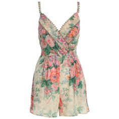 zimmerman floral playsuit