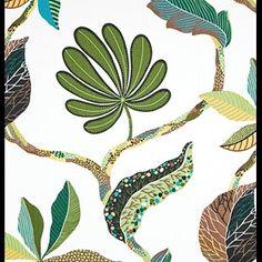 Textilgallerian Tahiti grön Tahiti, Plant Leaves, Drawings, Plants, Animals, Reading, Animales, Animaux, Word Reading
