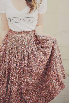 esse conjunto de saia e blusa ficou lindo