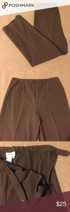 "Brown Coldwater Creek slacks Brown Coldwater Creek slacks.  Excellent used condition.  Size 14 with 31"" inseam.  Freshly dry cleaned.  Side zipper and button close.  Elastic waist with some stretch. Coldwater Creek Pants Trousers"